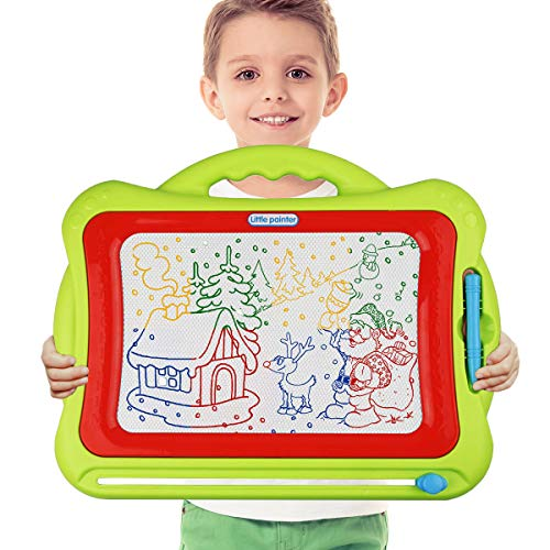 Meland Magnetic Drawing Board - Kids Magna Drawing Doodle Board Erasable Writing Sketch Board Pad Upgrade Version Green ()