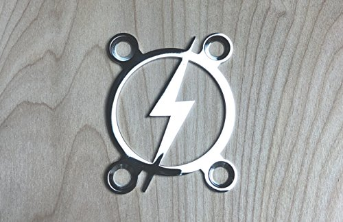 Retro Bolt! Neck Plate for your Custom Guitar or Bass - Chrome