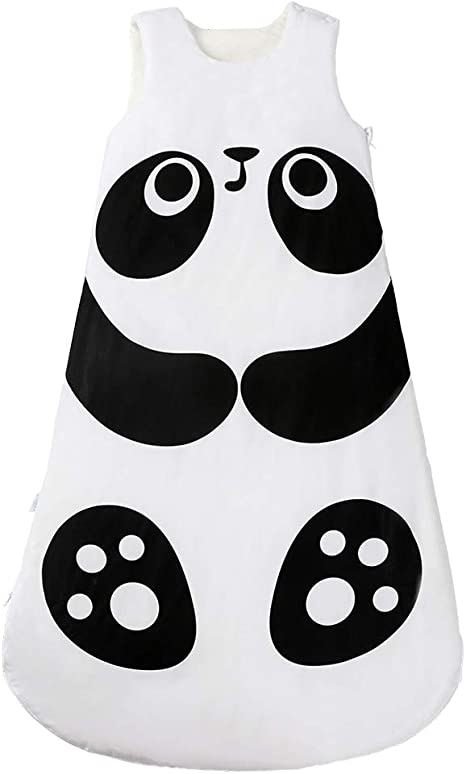 Saco de dormir de algodón cálido para bebé, para invierno, bebé, niña, bebé, niña, pijamas, saco de dormir para 0 – 36 meses panda- L Talla:95cm: Amazon.es: Hogar