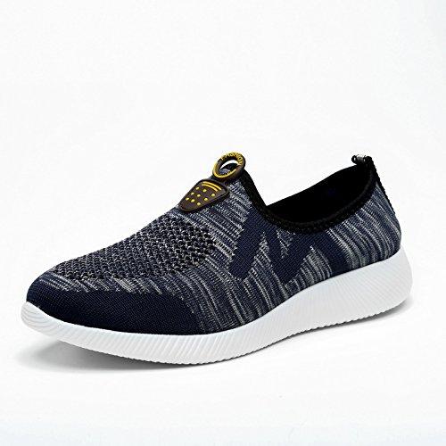 Malla Hombre Ocio transpirable deportivo ligero deportivo antideslizante zapatos de escalada casual UE tamaño 38-44 Navy