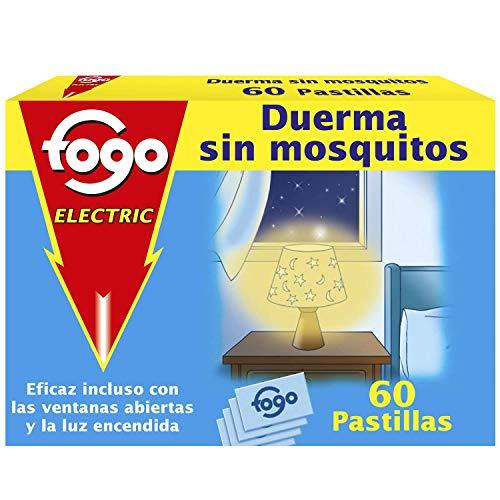 🥇 Fogo AntiMosquitos Recambios para insecticida eléctrico mata mosquitos – 60 pastillas