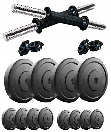 Kobo 24KG COMBO MG 2 Adjustable Dumbbells Set For Home Gym  Black