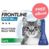 Frontline Spot On For Cats - 6 Pipettes - INCLUDES EXCLUSIVE PETWELL® FLEA AND TICK E BOOK
