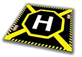 Droneport - Drone / Quadcopter Landing Platform - Mobile Landing Pad / Dronepad for Multicopter / Helipad / Heliport / Pad for Drones, Helicopters, Multicopters & Quadcopters (H - Black, Large)