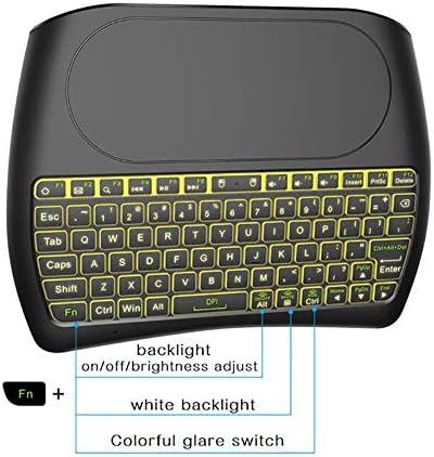 79 Clés 2,4 GHz Mini Clavier sans Fil, Rechargeable USB avec Grand écran Tactile, Convient pour Smart TV PC Portable Box Internet