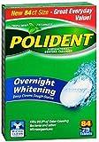Polident Overnight Whitening, Antibacterial Denture Cleanser, Triple Mint Freshness 84 ea (Pack of 5)