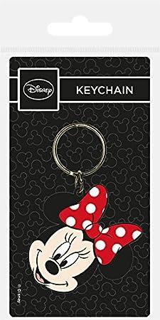 Amazon.com: Llavero – Minnie Mouse – Head – 4,5 x 6 cm ...