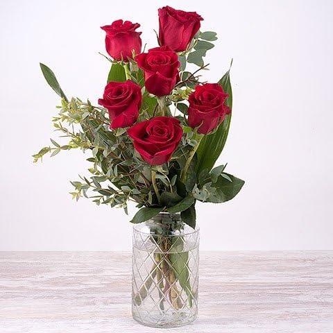 Fiori 24 Ore.Fiori Freschi Florachic 6 Rose Rosse Invio Gratis In 24 Ore