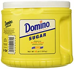 Domino Granulated Pure Cane Sugar is extra fine granulated, free-flowing and of the highest quality. This all-purpose sugar is ideal for table use, baking, preserving, canning, and for sweetening beverages