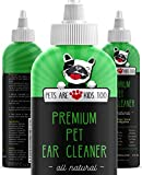 Premium Pet Ear Cleaner! Best All Natural Dog & Cat Ear Drops! Aloe Vera & Eucalyptus! Head Shaking, Discharge, Smell & Itching Relief from Mites, Yeast & Bacteria! Vet Recommended! (1 Bottle)