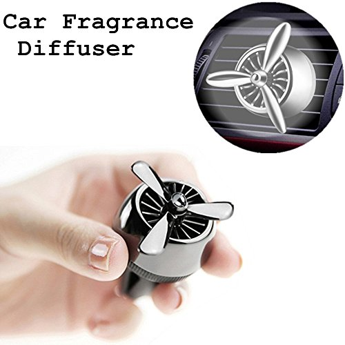 Sonic Airplane - Car Fragrance Diffuser Vent Clip, Car Air Purifier, Car Aroma Diffuser, Ablerv Airplane Propeller Air Refresher Ultrasonic Aromatherapy Diffusers 3rd Ver