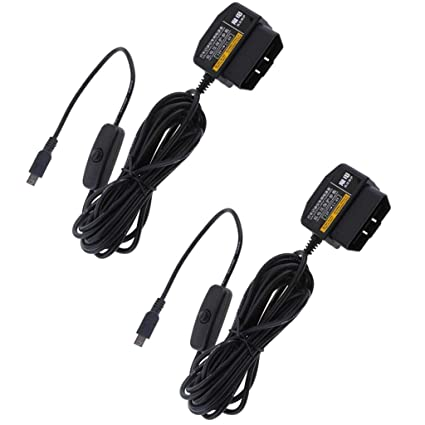 Car Electronics & Accessories Baoblaze Universal Car Dash Cam Hardwire Adapter 12 24V to 5V Step Down Cables for DVR GPS OBD Buck Line
