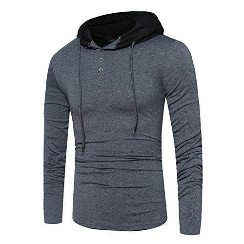 HOT ! Ninasill Mens Autumn And Winter Round Neck Long Sleeve Casual Hood T-Shirt Tops Tee Shirts (M, Dark - What Is Solstice