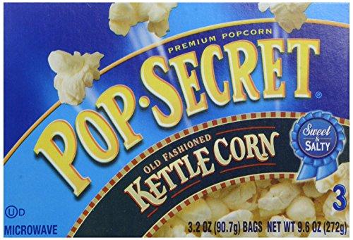 (Pop Secret Popcorn, Kettle Corn, 3.2 Ounce Microwave Bags, 3 Count Box)
