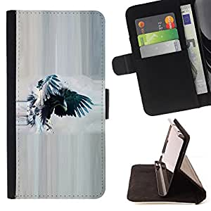 Jordan Colourful Shop - raven crow watercolor eagle wings For Apple Iphone 6 PLUS 5.5 - < Leather Case Absorci????n cubierta de la caja de alto impacto > -