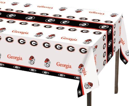 Creative Converting Georgia Bulldogs Plastic Table Cover, 54