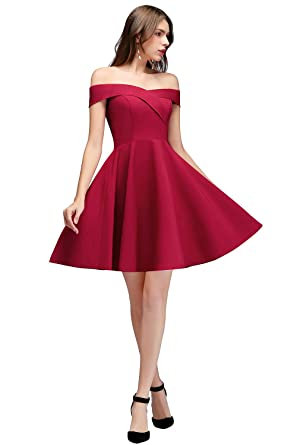 e323d65af250 MisShow Sexy Cocktail Swing Dresses Off Shoulder Short Homecoming Party  Dresses at Amazon Women's Clothing store: