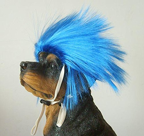 Remeehi Generic Dog Pet High Temperture Wire Wig Synthetic Pet Wig ( Blue TP31) by Rh (Image #2)