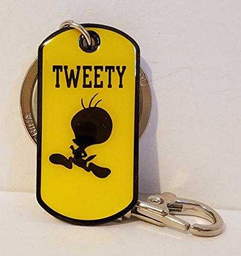 Six Flags Magic Mountain Looney Tunes Tweety Bird Silhouette Tag Keychain ()