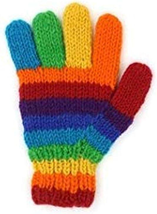 Guanti invernali Colori accesi molto caldi/ /taglia unica caldi color arcobaleno di lana design brillante 100/% lana