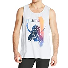 Nobee Final Fantasy Tank Top Vest Sleeveless For Men White