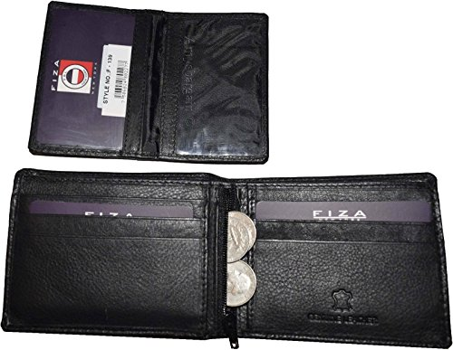 Wallet case Billfold Coin Bifold Men's ID BNW Zip NY 2 2 New Leather Black FIZA CwqXOUxU