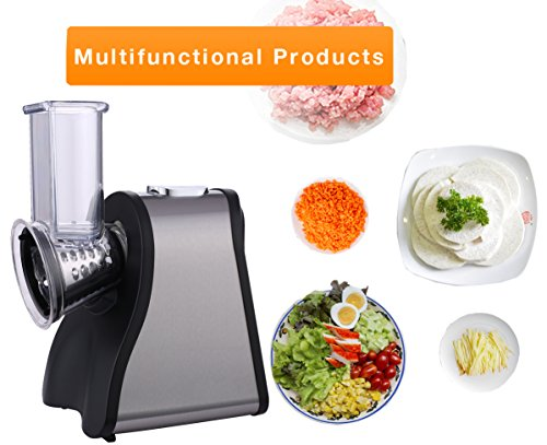 - Korie Professional 200W Electric Automatic Salad Maker-Slicer Shredder-Food Slicer with 4 Interchangeable Mold for Fruits, Vegetables, and Cheese(US STOCK)