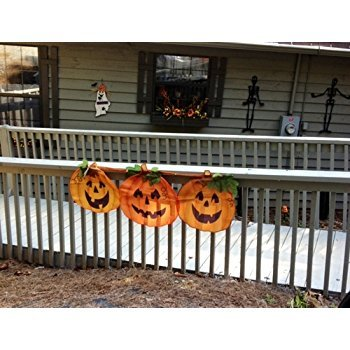 1 X Halloween Pumpkin Bunting (Halloween Discount Decorations)