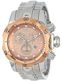 Invicta Men's 10797 Venom Analog Display Swiss Quartz Silver Watch