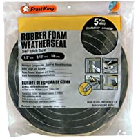 "Frost King Available R930H Sponge Rubber Foam Tape 9/16-Inch, Black, 1/2"" W,9/16"" T"