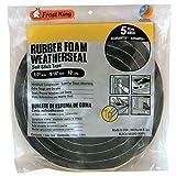 Frost King Available R930H Sponge Rubber Foam Tape 9/16-Inch, Black, 1/2' W,9/16' T