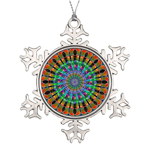 Christmas Ideas Decorating Outdoor (YourGift Fractal Sacred Geometry Ideas For Decorating Christmas Trees Large Outdoor Snowflake Ornaments)