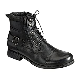 ARIDER BULL-01 Men's Ankle Combat Army Low-Top Causal Boots- BLACK 9