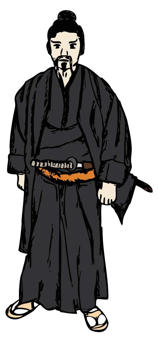 Wandtattoo Asien Schwarzer Samurai Wandsticker Wanddeko Wohnzimmer Japan Deko