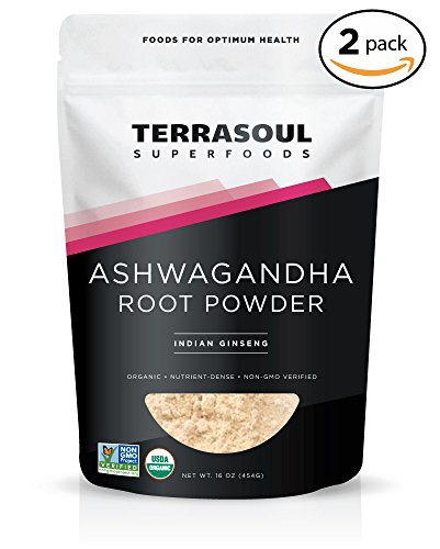 Terrasoul Superfoods Ashwagandha Root Powder (Organic), 2 Pounds