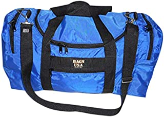 product image for Carry on size weekend bag, Main compartment and two end pockets, Made in USA. (Blue)