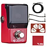 Joyo JF-329 Ironman Mini Iron Loop Looper Guitar Effects Pedal with Polish Cloth, Pick Card, Patch Cables, and 10 ft Cable