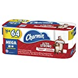 Charmin Ultra Strong Toilet Paper, 16 Mega Rolls (Equal to 64 Regular Rolls)