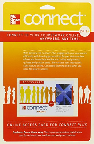 Connect Plus Accounting 2-Semester Access Card for Advanced Financial Accounting