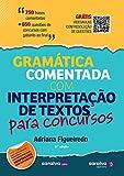 capa de Gramática Comentada com Interpretação de Textos Para Concursos