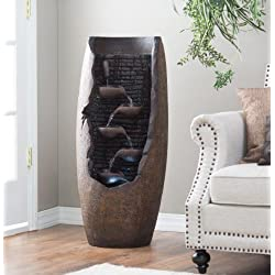 Lighted Indoor/outdoor Water Fountain. This LED Fountain with Pump Will Add to Any Garden or Office Decor.