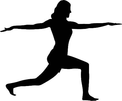 Amazon.com: Yoga Silueta pared calcomanías – Yoga Warrior ...