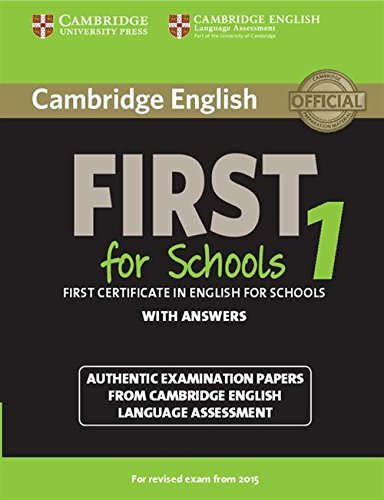 Cambridge english first for schools. For updated exam. Student's book. With answer. Per le Scuole superiori. Con espansione online: Cambridge English Papers from Cambridge English Lang