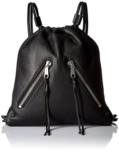 Rebecca Minkoff Moto Drawstring Back pack, Black, One Size by Rebecca Minkoff