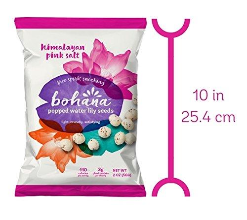 Bohana Gluten Free Popped Water Lily Seed Snack, Pink Himalayan Salt, 2oz, (Pack of 6) by BOHANA (Image #2)
