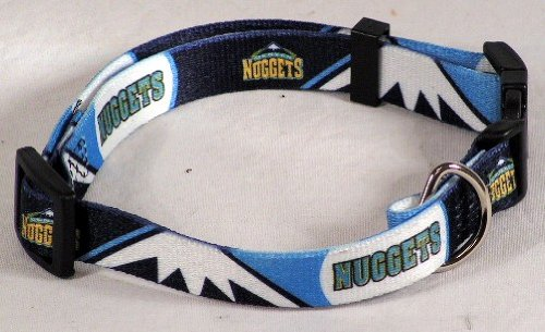 NBA Denver Nuggets Adjustable Pet Collar, Small, Team Color