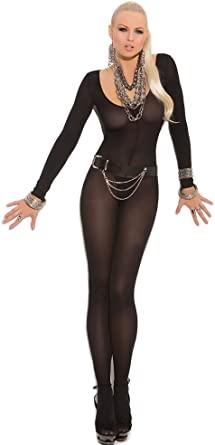 One Size Fits Most Womens Foxy Babe Long Sleeve Bodystocking