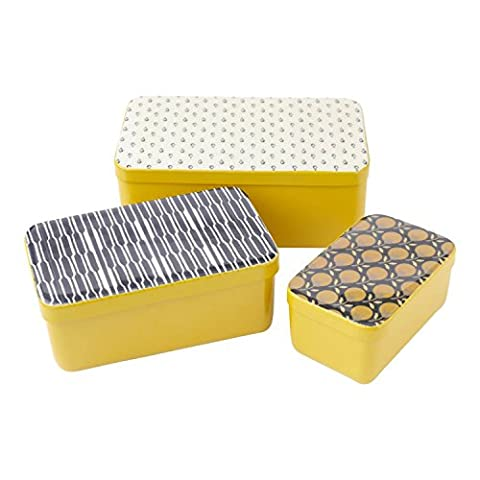 Hallmark Home Unique Yellow Metal Decorative Storage Box, Large