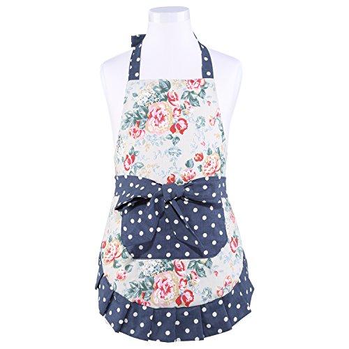 Neoviva Vintage Kitchen Apron for Kid Girls with Big Pocket, Lining Applied, Style Little Kathy, Floral Quarry - Quarry Kids