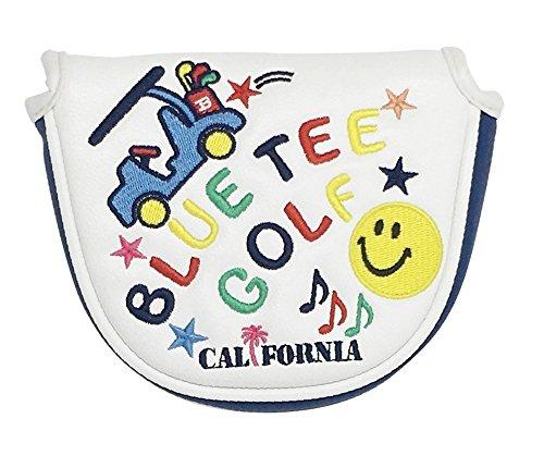 書士なす家庭☆Newモデル BLUE TEE GOLF California 【スマイル&カート】 マレット型 パターカバー